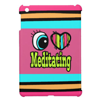 Bright Eye Heart I Love Meditating iPad Mini Cover