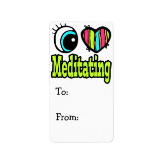 Bright Eye Heart I Love Meditating Label