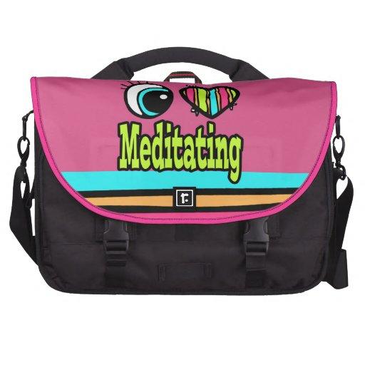 Bright Eye Heart I Love Meditating Laptop Bag