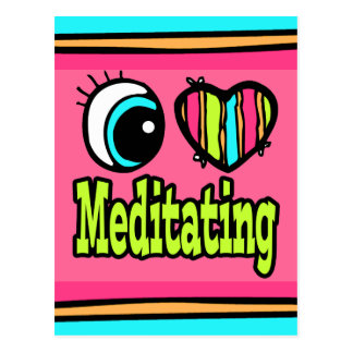 Bright Eye Heart I Love Meditating Postcard