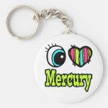 Bright Eye Heart I Love Mercury Key Chains
