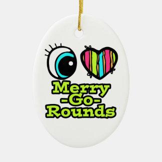 Bright Eye Heart I Love Merry-Go-Rounds Christmas Ornaments