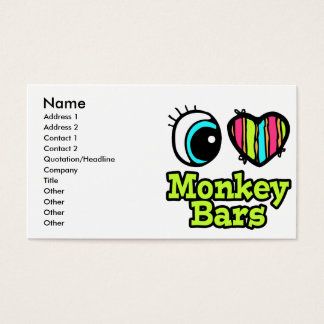 Bright Eye Heart I Love Monkey Bars Business Card