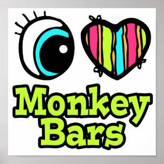 Bright Eye Heart I Love Monkey Bars Posters