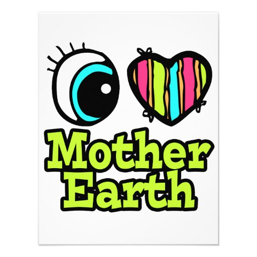 Bright Eye Heart I Love Mother Earth Personalized Announcement