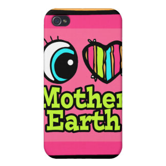 Bright Eye Heart I Love Mother Earth iPhone 4/4S Cover