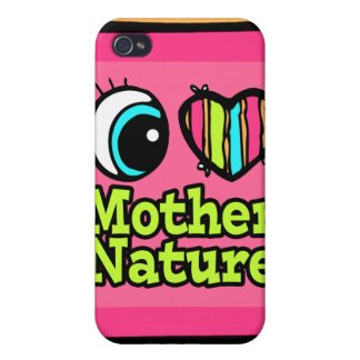 Bright Eye Heart I Love Mother Nature iPhone 4 Case