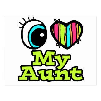 Bright Eye Heart I Love My Aunt Postcard