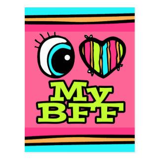 Bright Eye Heart I Love My BFF Postcard
