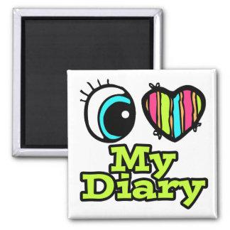 Bright Eye Heart I Love My Diary Fridge Magnet