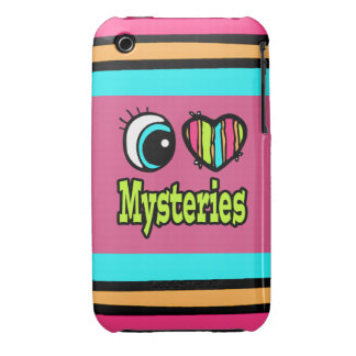 Bright Eye Heart I Love Mysteries iPhone 3 Case-Mate Cases