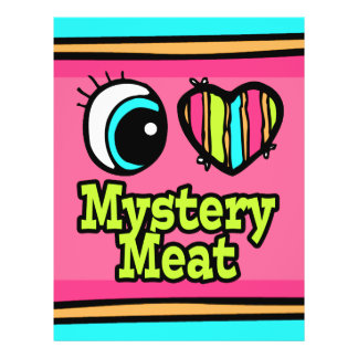 "Bright Eye Heart I Love Mystery Meat 8.5"" X 11"" Flyer"