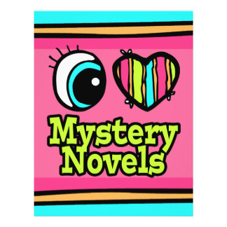 "Bright Eye Heart I Love Mystery Novels 8.5"" X 11"" Flyer"