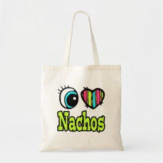 Bright Eye Heart I Love Nachos Canvas Bags