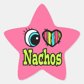 Bright Eye Heart I Love Nachos Star Sticker