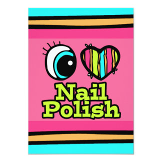 Bright Eye Heart I Love Nail Polish Card