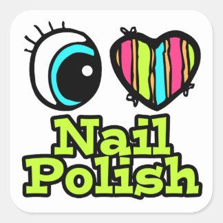 Bright Eye Heart I Love Nail Polish Stickers