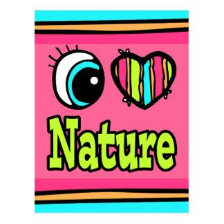 Bright Eye Heart I Love Nature Postcard
