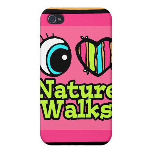 Bright Eye Heart I Love Nature Walks iPhone 4 Cover