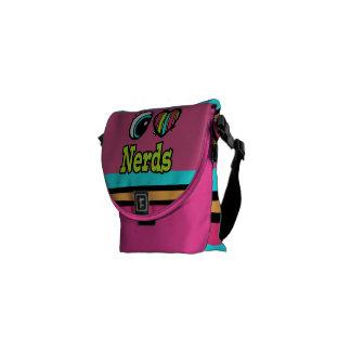 Bright Eye Heart I Love Nerds Messenger Bag