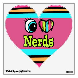 Bright Eye Heart I Love Nerds Wall Decor
