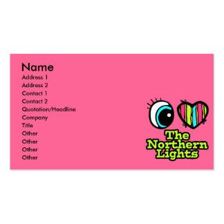 Bright Eye Heart I Love Northern Lights Double-Sided Standard Business Cards (Pack Of 100)