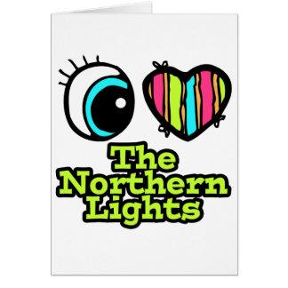 Bright Eye Heart I Love Northern Lights Greeting Card