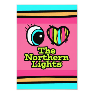 Bright Eye Heart I Love Northern Lights 5x7 Paper Invitation Card