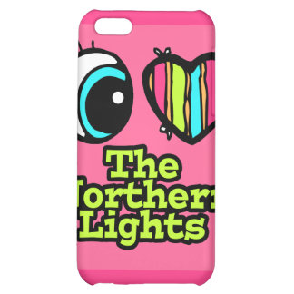 Bright Eye Heart I Love Northern Lights iPhone 5C Cover