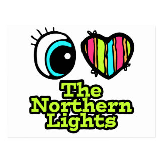 Bright Eye Heart I Love Northern Lights Postcard