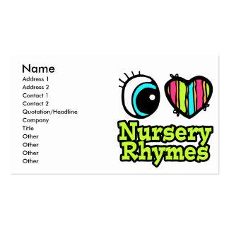 Bright Eye Heart I Love Nursery Rhymes Business Card