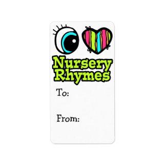 Bright Eye Heart I Love Nursery Rhymes Label