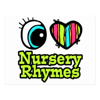 Bright Eye Heart I Love Nursery Rhymes Postcard