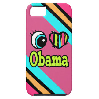 Bright Eye Heart I Love Obama iPhone 5 Case