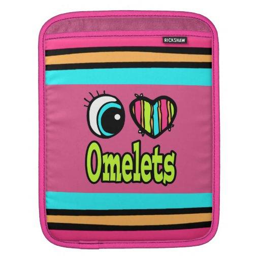 Bright Eye Heart I Love Omelets iPad Sleeve