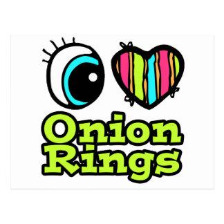 Bright Eye Heart I Love Onion Rings Postcard