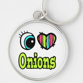 Bright Eye Heart I Love Onions Keychain