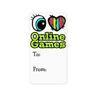 Bright Eye Heart I Love Online Games Label