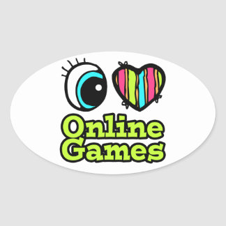 Bright Eye Heart I Love Online Games Stickers