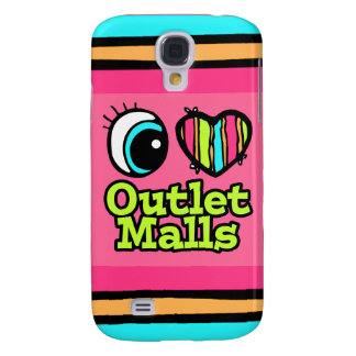 Bright Eye Heart I Love Outlet Malls Samsung Galaxy S4 Case