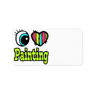 Bright Eye Heart I Love Painting Address Label