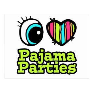 Bright Eye Heart I Love Pajama Parties Postcard
