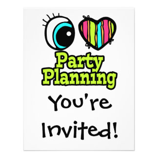 Bright Eye Heart I Love Party Planning Announcements