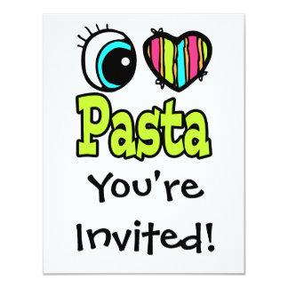 Bright Eye Heart I Love Pasta Card