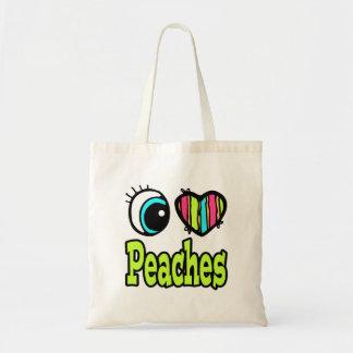 Bright Eye Heart I Love Peaches Bags
