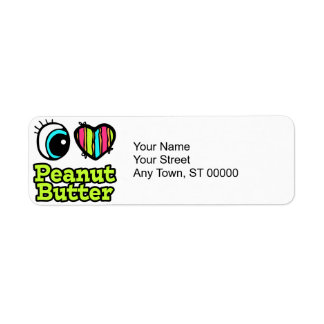 Bright Eye Heart I Love Peanut Butter Label