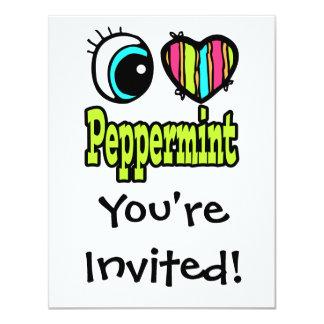 Bright Eye Heart I Love Peppermint Card