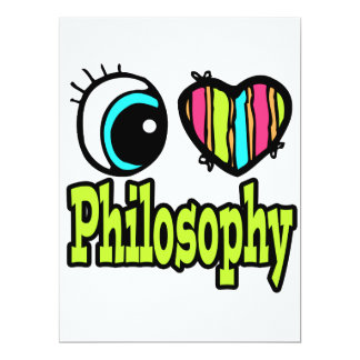Bright Eye Heart I Love Philosophy 6.5x8.75 Paper Invitation Card