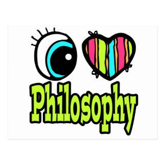 Bright Eye Heart I Love Philosophy Postcard