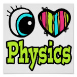Bright Eye Heart I Love Physics Poster